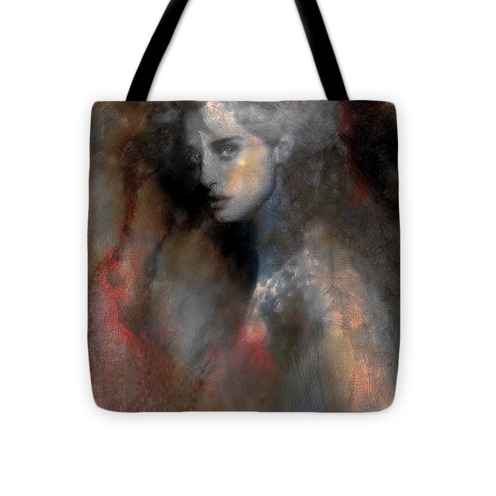 Portrait.love Tote Bag featuring the mixed media Love Is The Key by Freddy Kirsheh