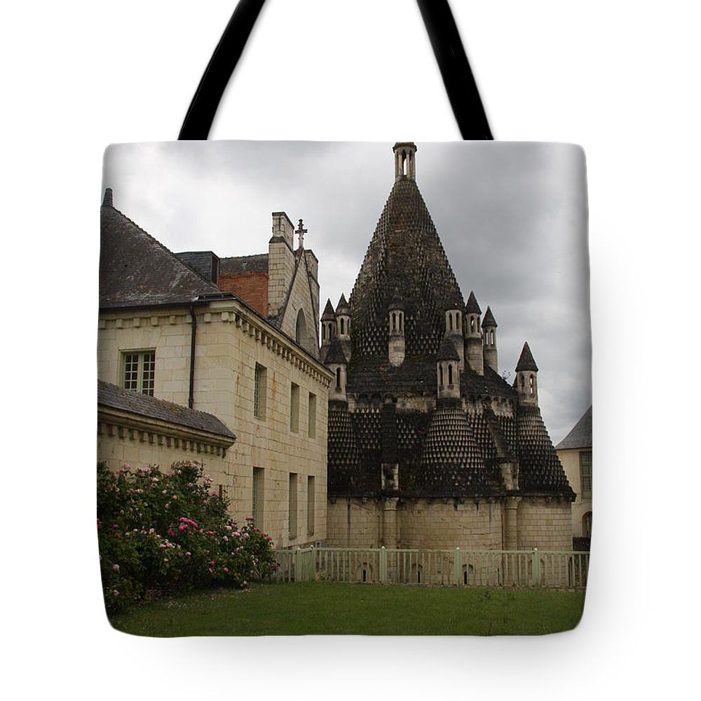 Kitchen Tote Bag featuring the photograph The Kitchenbuilding - Abbey Fontevraud by Christiane Schulze Art And Photography