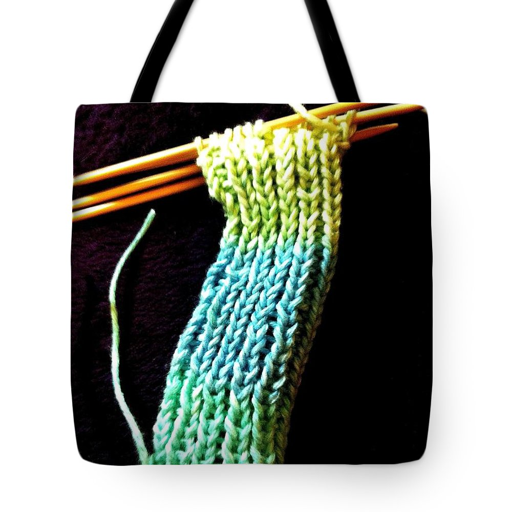 Double Pointed Knitting Needles Tote Bag featuring the photograph The Knitting by Martha Nelson