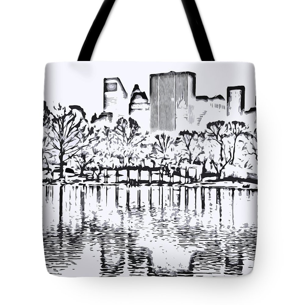 City Tote Bag featuring the photograph The Lake by Andre Aleksis