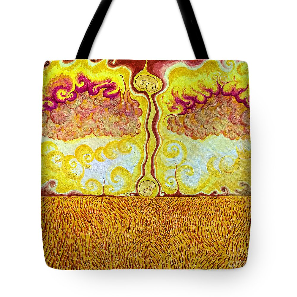 Acrylic Tote Bag featuring the painting The Last Harvest by Jo-Anne Elniski