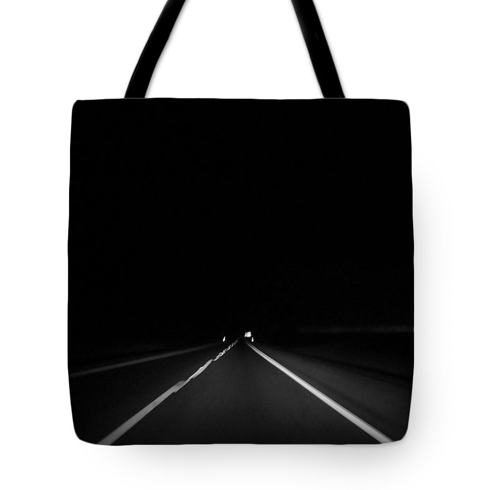 Highway Tote Bag featuring the photograph The Last Mile by H James Hoff