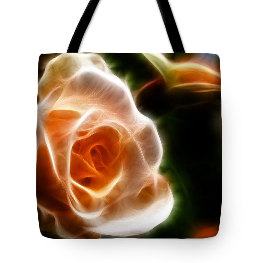 Fractal Tote Bag featuring the photograph The Last Rose Of Summer by Jordan Blackstone