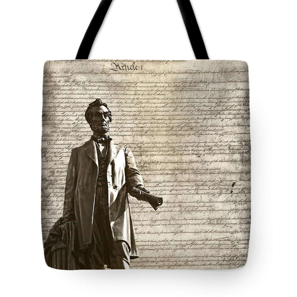 We The People Tote Bag featuring the photograph The Law by Dan Sproul