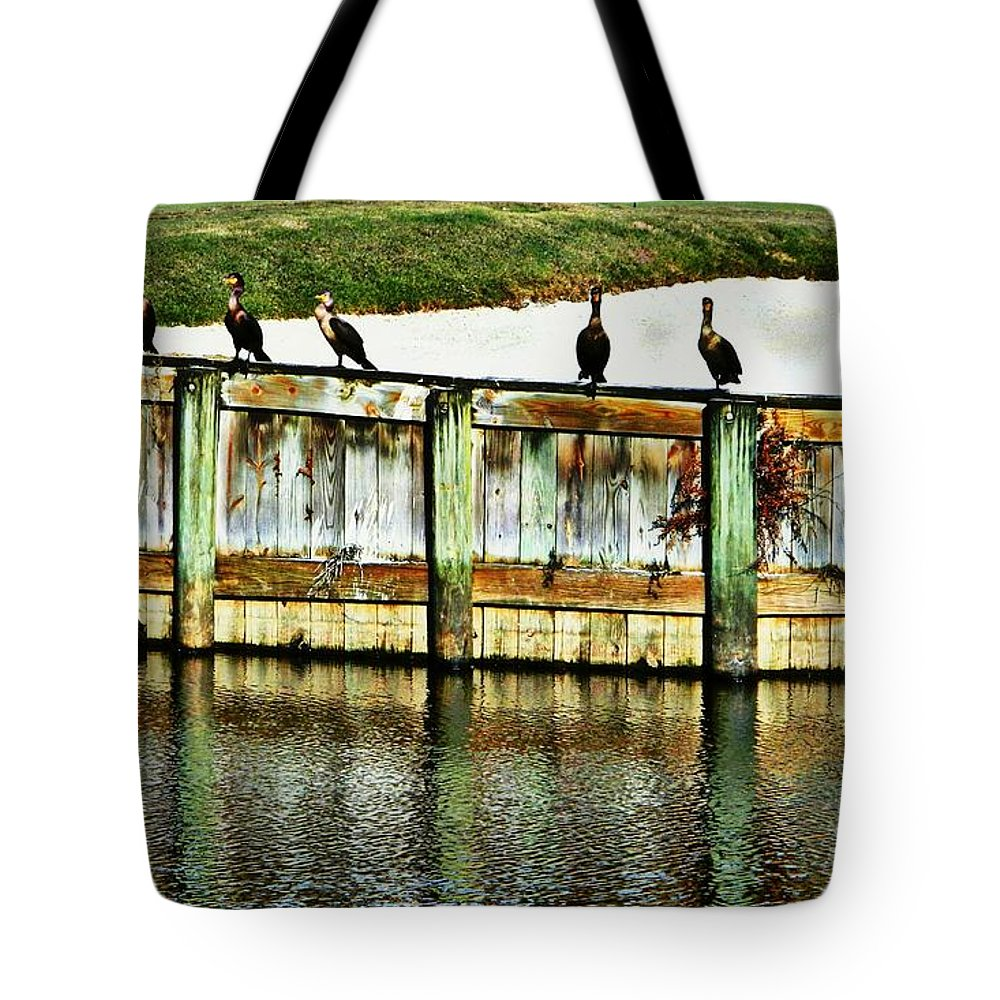 Florida Tote Bag featuring the photograph The Lineup by Jennifer Boisvert