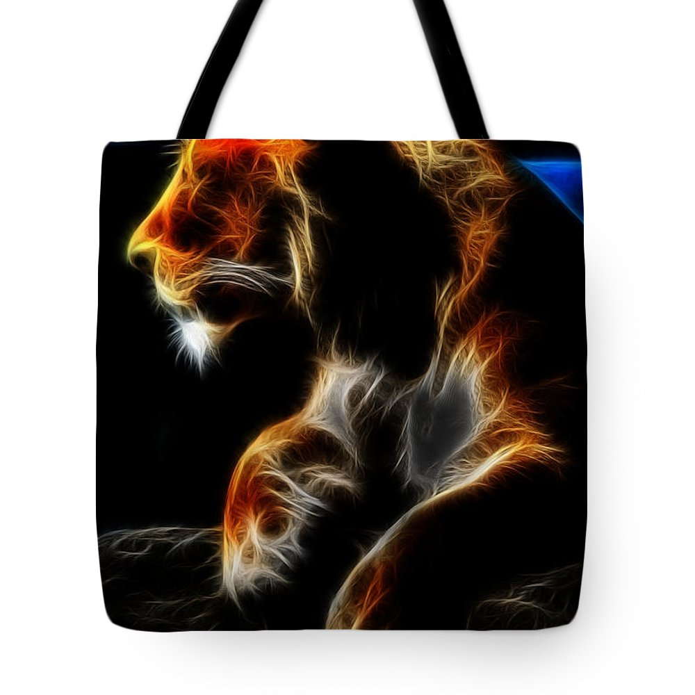 Lion Tote Bag featuring the photograph The Lioness Alt by Michael Frank Jr