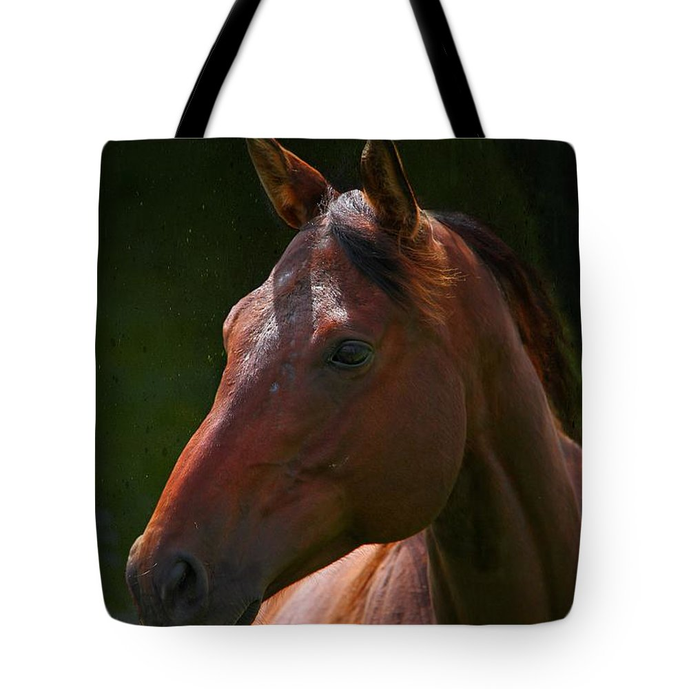 Animal Tote Bag featuring the photograph The Listener by Davandra Cribbie