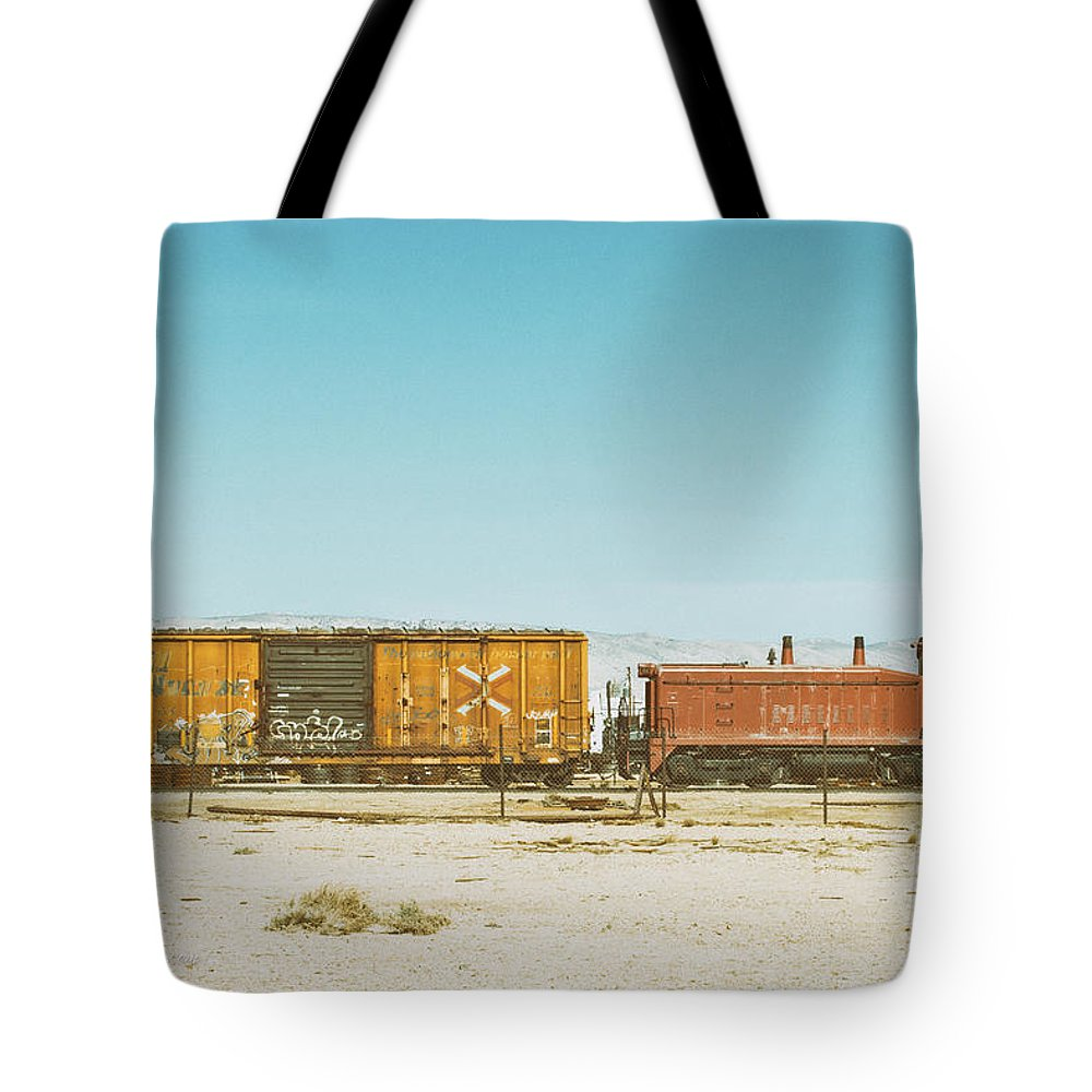 Transportation Tote Bag featuring the photograph The Little Red Engine by Jim Thompson
