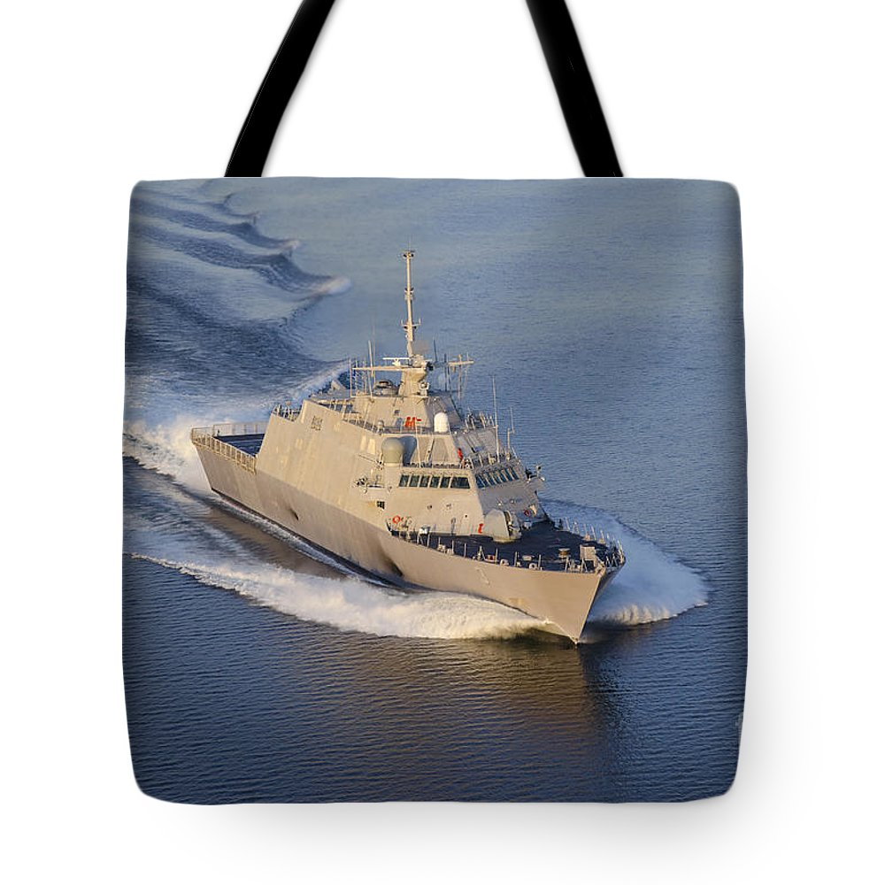 Littoral Combat Ships Tote Bag featuring the photograph The Littoral Combat Ship by Stocktrek Images