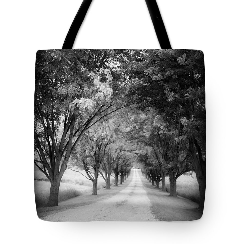 Driveway Tote Bag featuring the photograph The Long Road Home by Edward Fielding