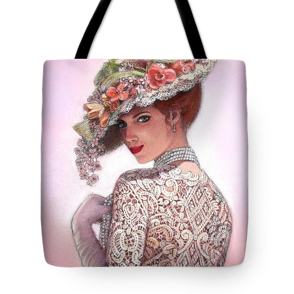Portrait Tote Bag featuring the painting The Look of Love by Sue Halstenberg
