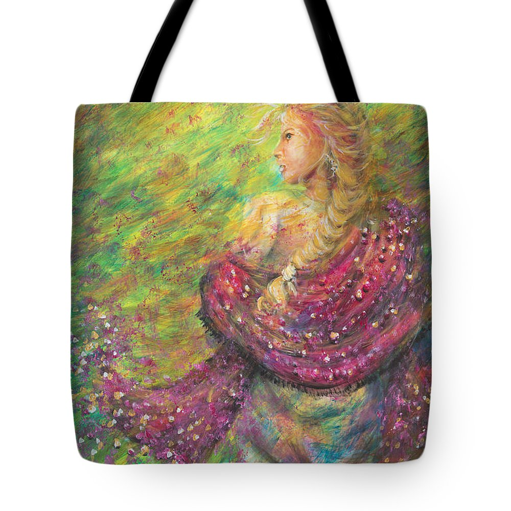 Lady Tote Bag featuring the painting The Magdelene by Nik Helbig