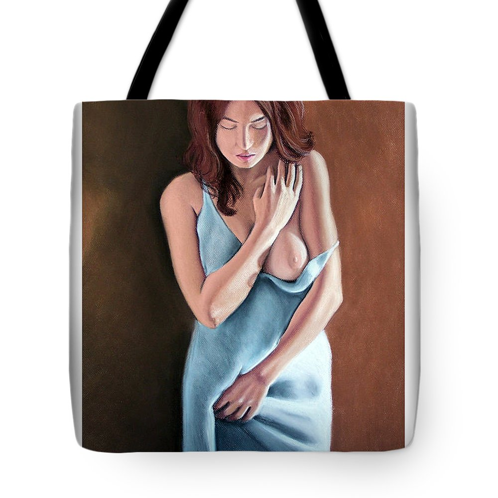Joseph Ogle Tote Bag featuring the pastel The Maiden Prints Only by Joseph Ogle