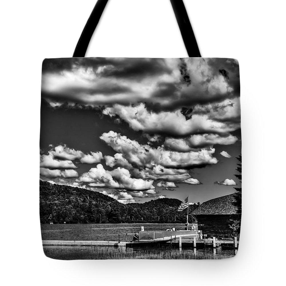 Big Moose Lake Tote Bag featuring the photograph The Majestic Big Moose Lake by David Patterson