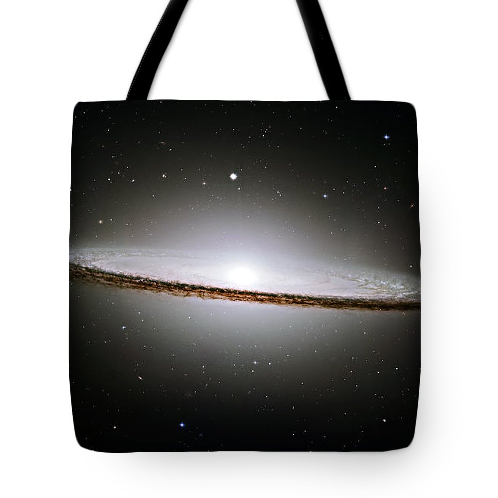 M104 Tote Bag featuring the photograph The Majestic Sombrero Galaxy by Ricky Barnard