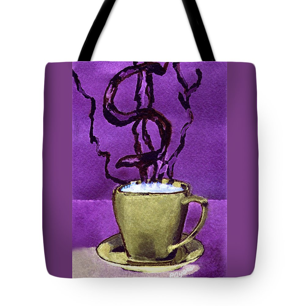 Money Tote Bag featuring the painting The Midas Cup by Paula Ayers