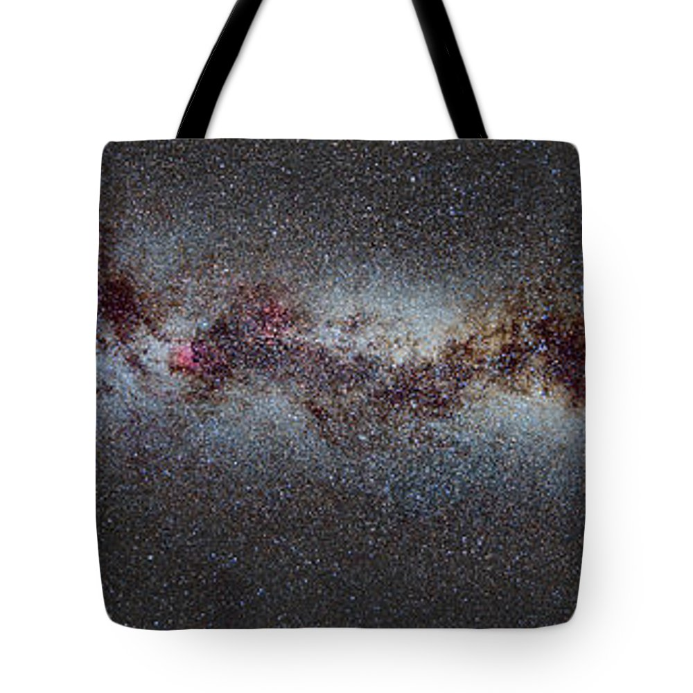 Milky Way Tote Bag featuring the photograph The Milky Way From Scorpio And Antares To Perseus by Guido Montanes Castillo