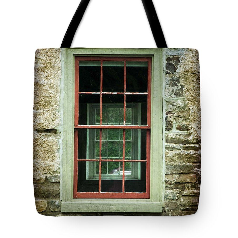 Window Tote Bag featuring the photograph The Mill Window by Debra Fedchin