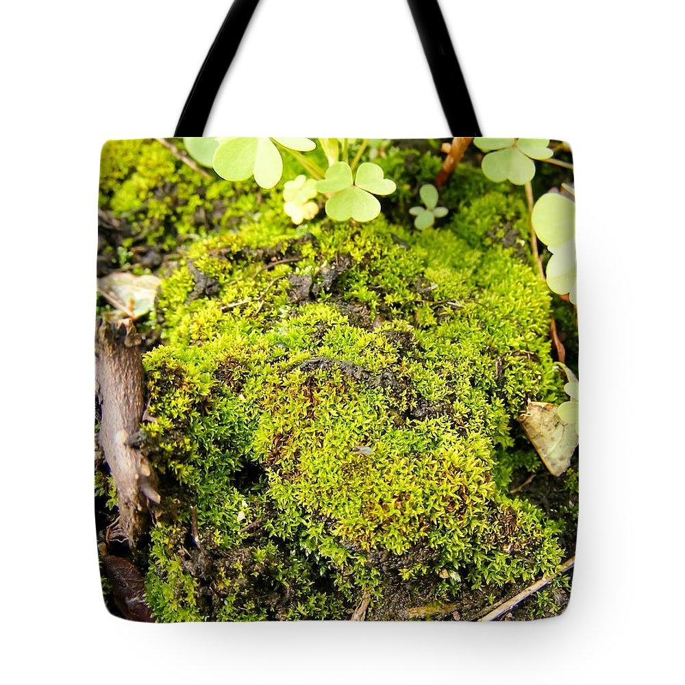 The Miniature World Of The Moss Tote Bag featuring the photograph The Miniature World Of The Moss by Cynthia Woods