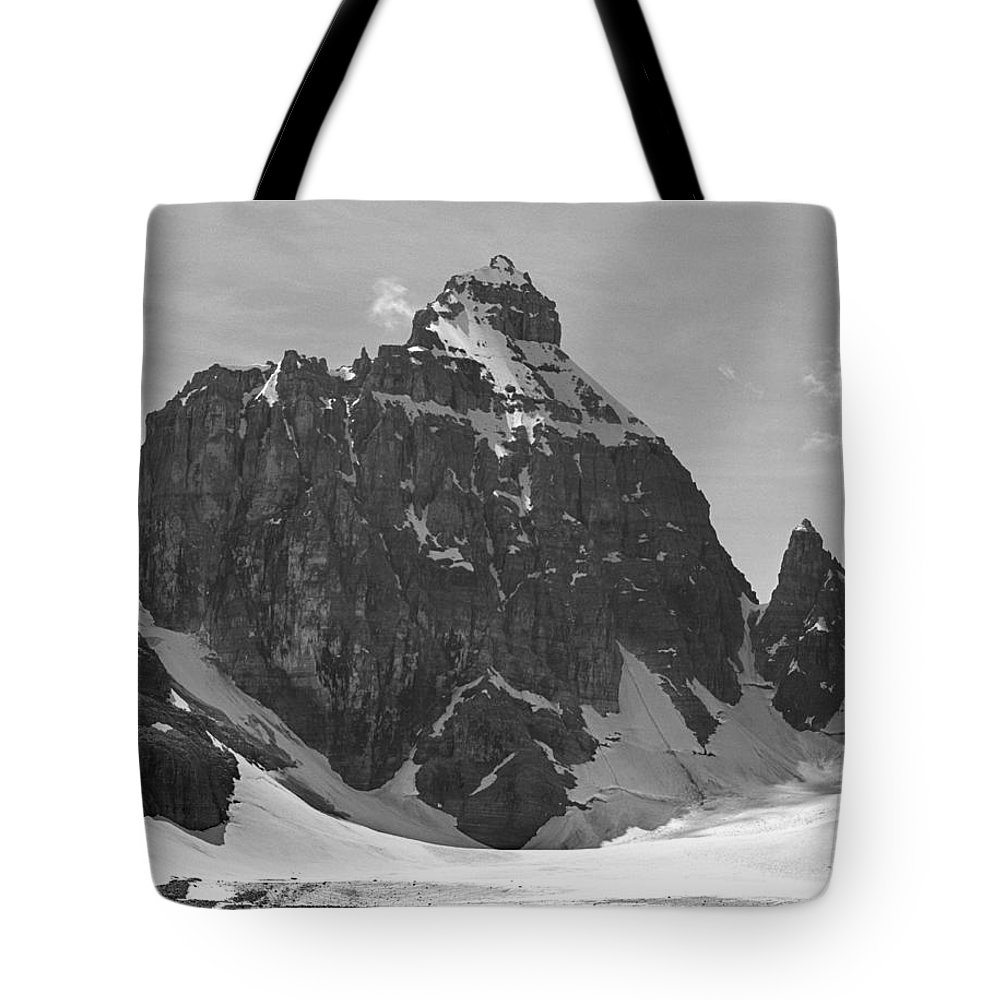 The Mitre Tote Bag featuring the photograph 1m3523-bw-the Mitre by Ed Cooper Photography