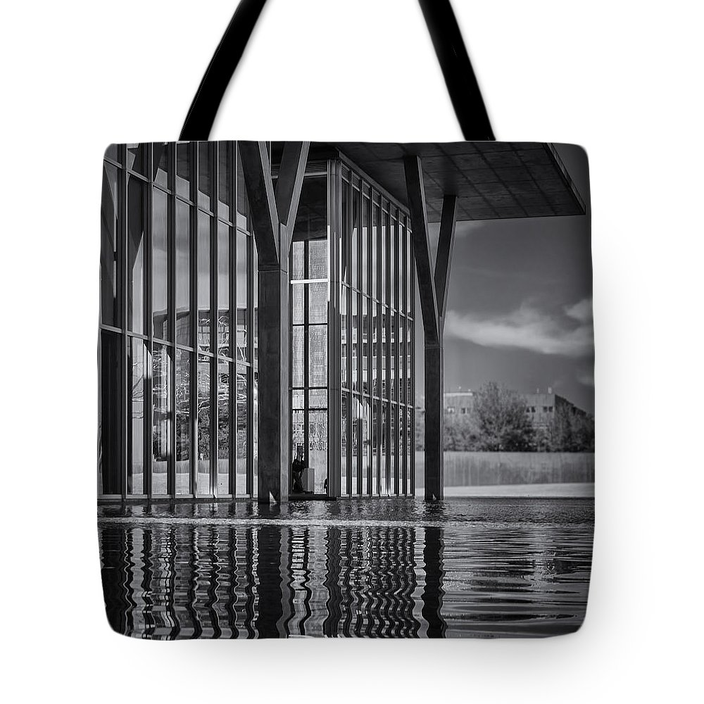 Modern Art Tote Bag featuring the photograph The Modern Bw by Joan Carroll