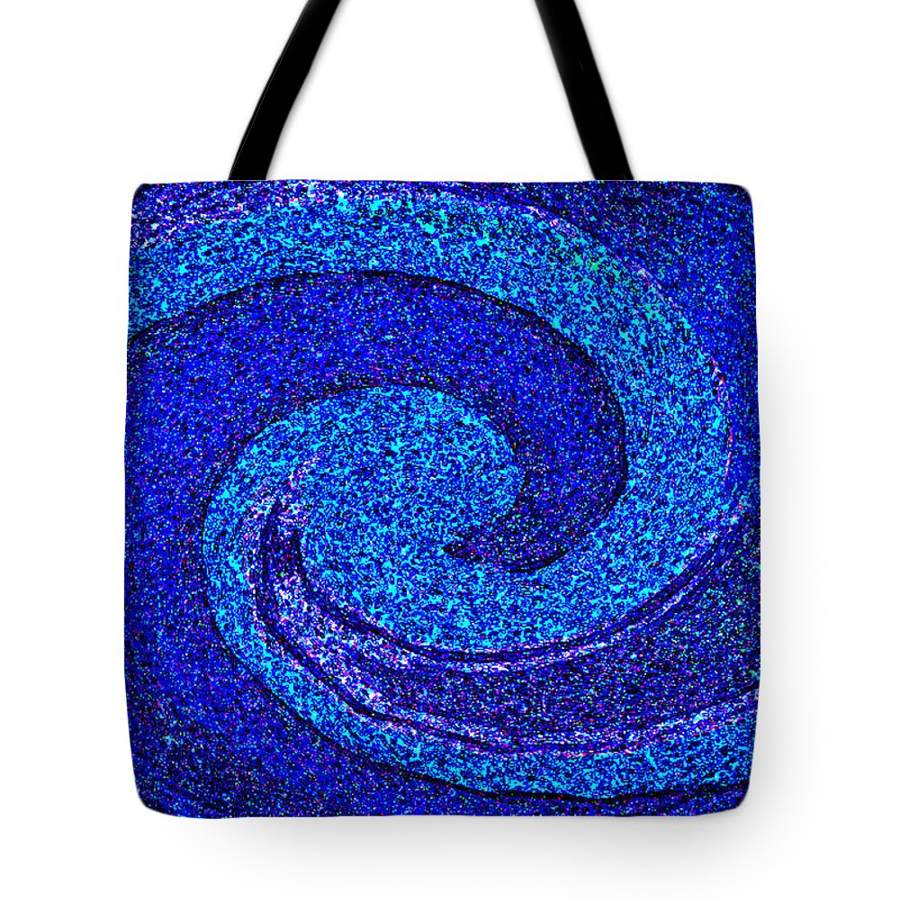 Abstract Art Paintings Prints Tote Bag featuring the painting The Moon And Stars For Thee By Rjfxx. by RjFxx at beautifullart com
