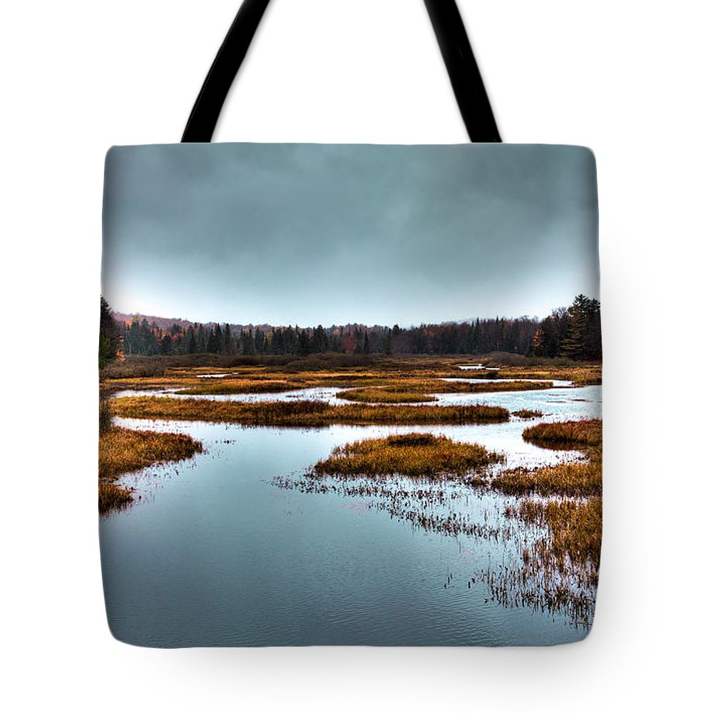 Adirondack's Tote Bag featuring the photograph The Moose River - Old Forge New York by David Patterson