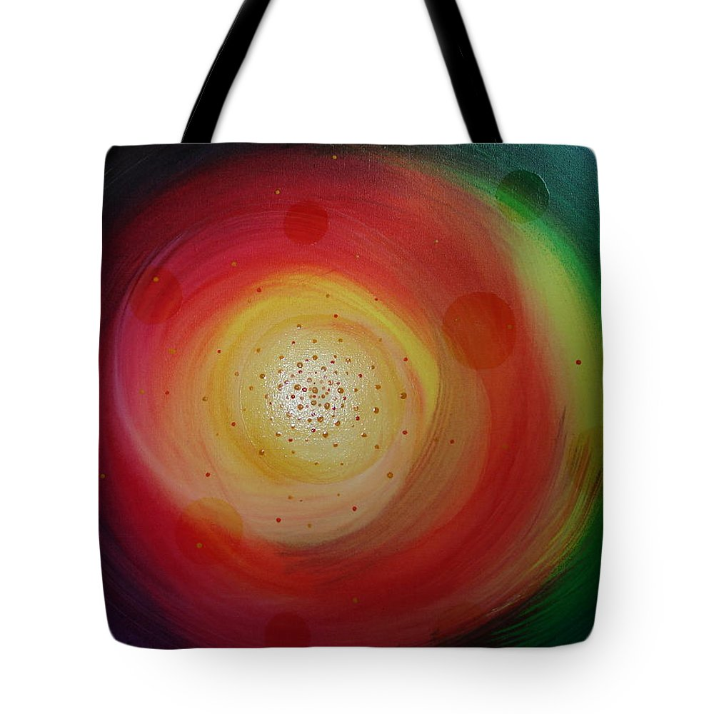 Abstract Tote Bag featuring the painting The Morning After by Krystyna Spink