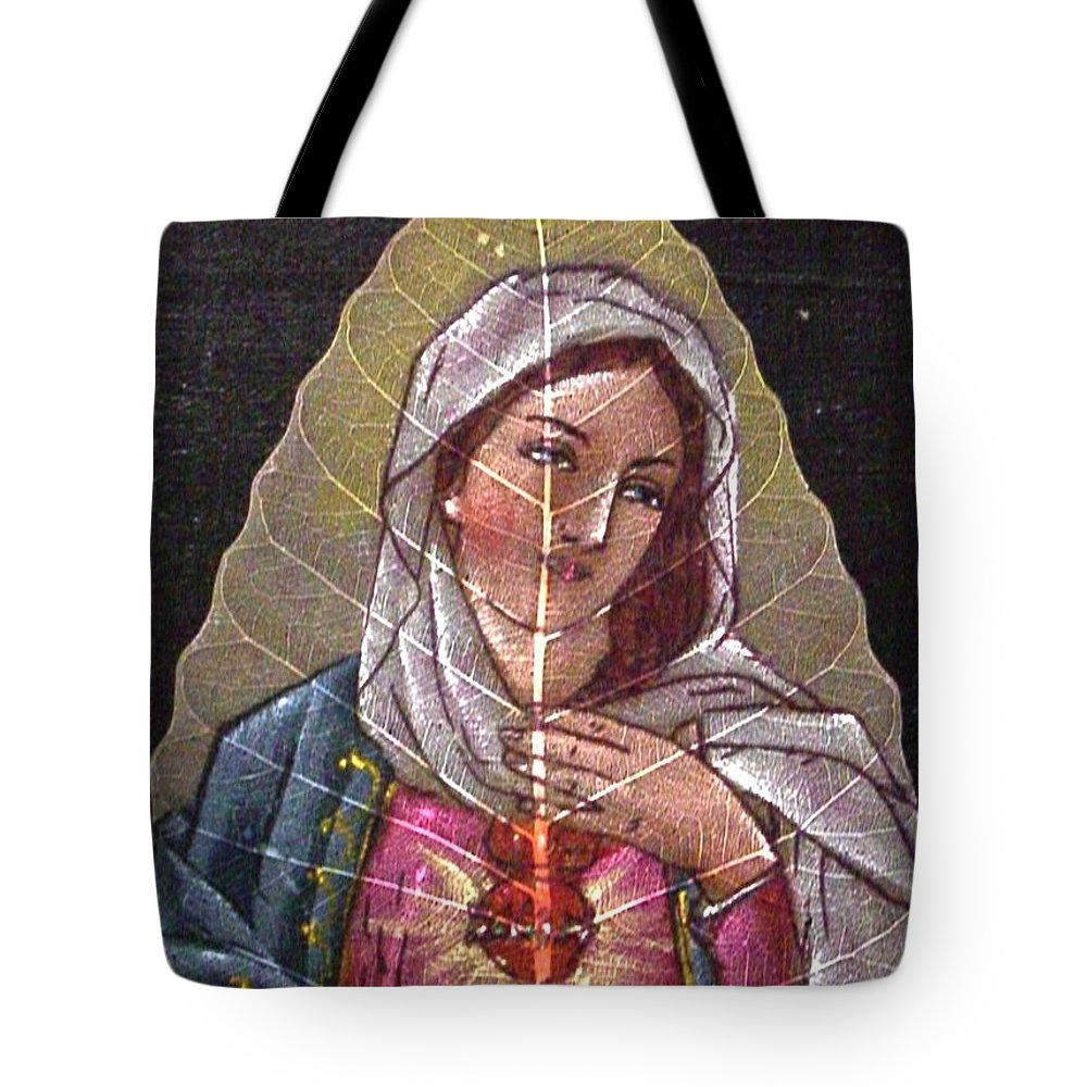 Mother Tote Bag featuring the painting The Mother by Kruti Shah
