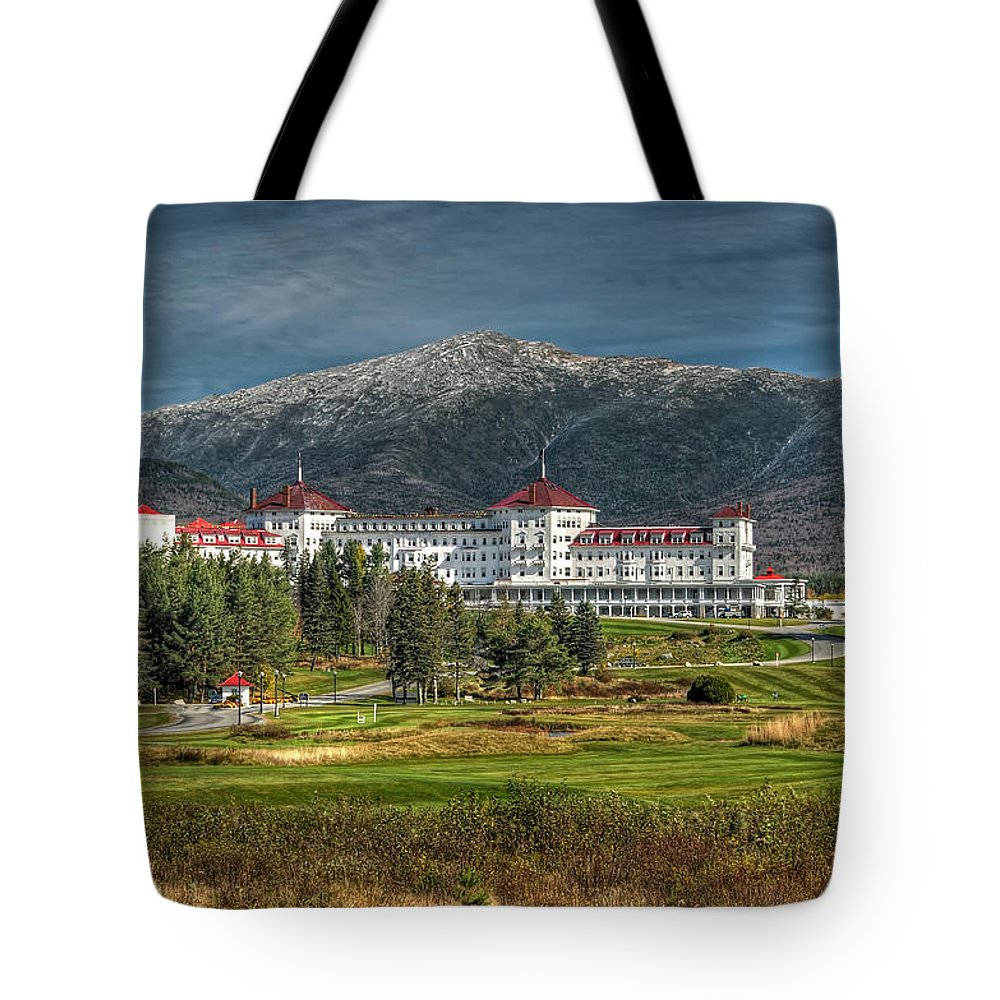 Mount Washington Hotel Tote Bag featuring the photograph The Mount Washington Hotel by Liz Mackney