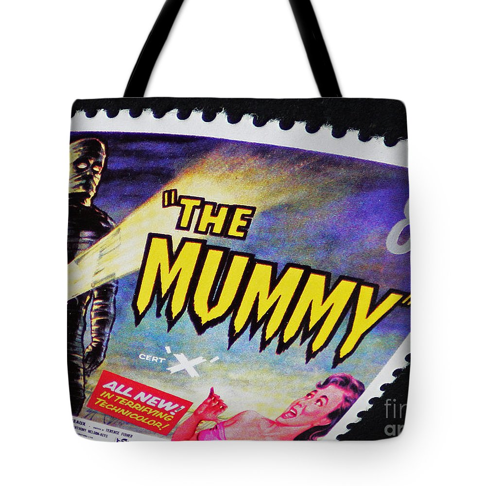 Mummy Tote Bag featuring the photograph The Mummy Postage Stamp Print by Andy Prendy