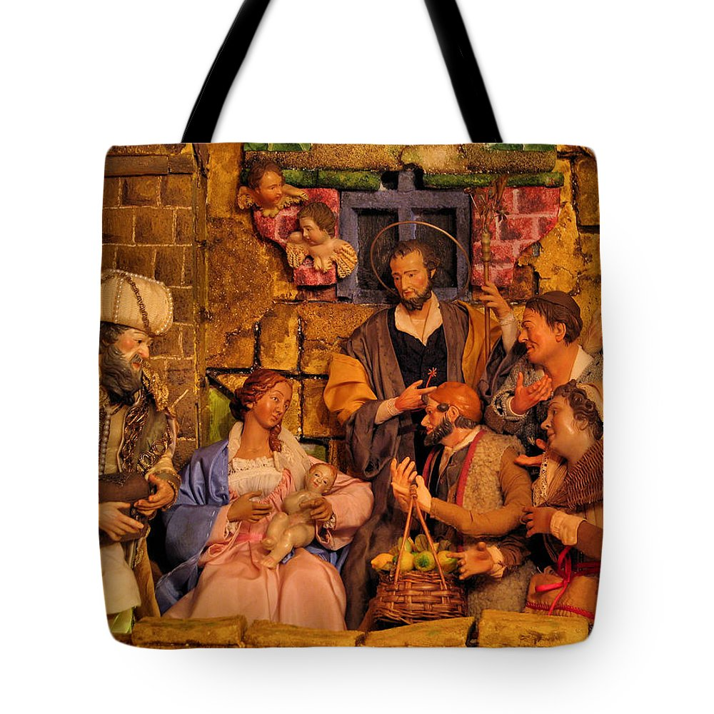 The Nativity Tote Bag featuring the photograph The Nativity by Richard Faenza