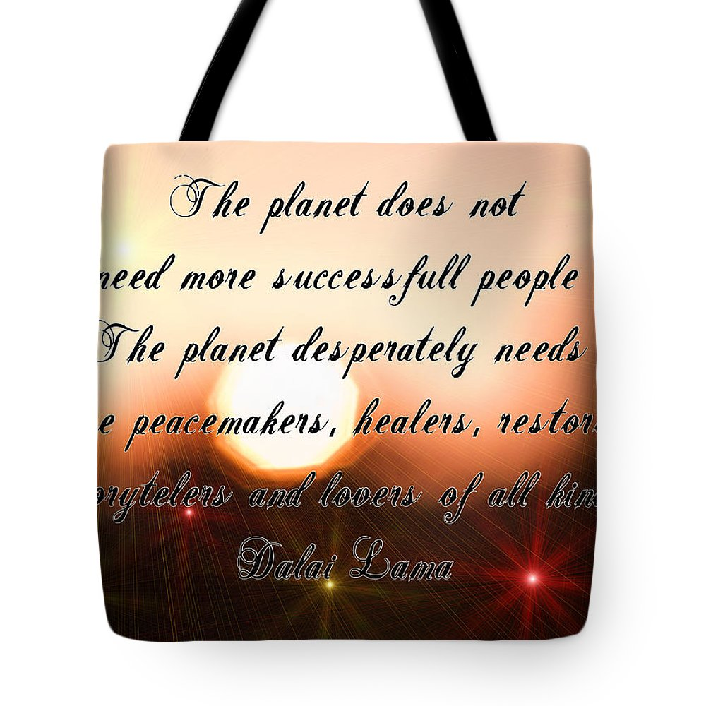 Motto Tote Bag featuring the photograph The Need by Alex Art and Photo
