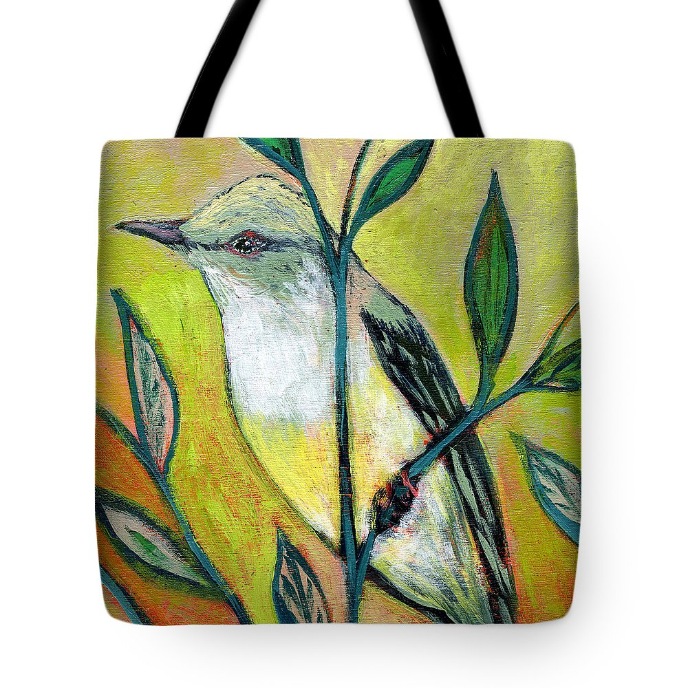 Bird Tote Bag featuring the painting The NeverEnding Story No 108 by Jennifer Lommers