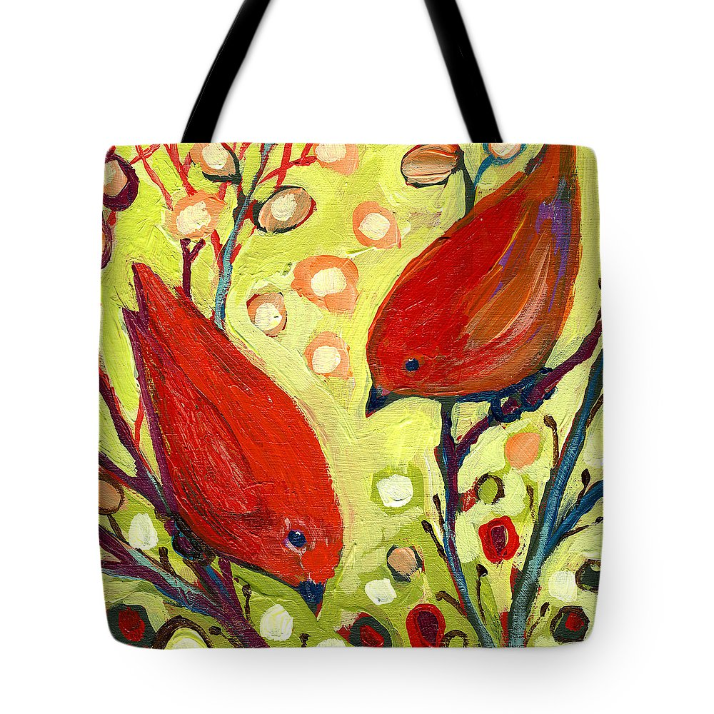 Bird Tote Bag featuring the painting The NeverEnding Story No 2 by Jennifer Lommers