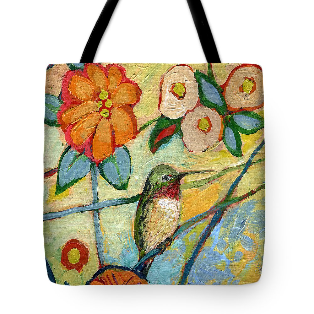 Hummingbird Tote Bag featuring the painting The NeverEnding Story No 6 by Jennifer Lommers