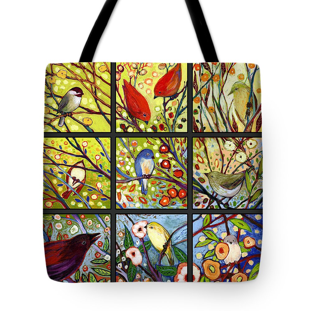 Bird Tote Bag featuring the painting The NeverEnding Story Set of 12 a2 by Jennifer Lommers