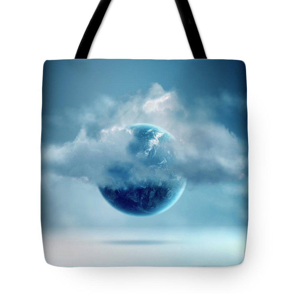 Tranquility Tote Bag featuring the photograph The New World Of Cloud Computing by Colin Anderson