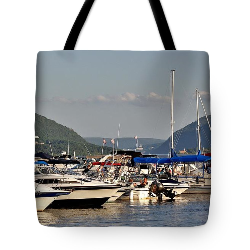 Tote Bag featuring the photograph The Newburgh Water Front 2 by Chet B Simpson