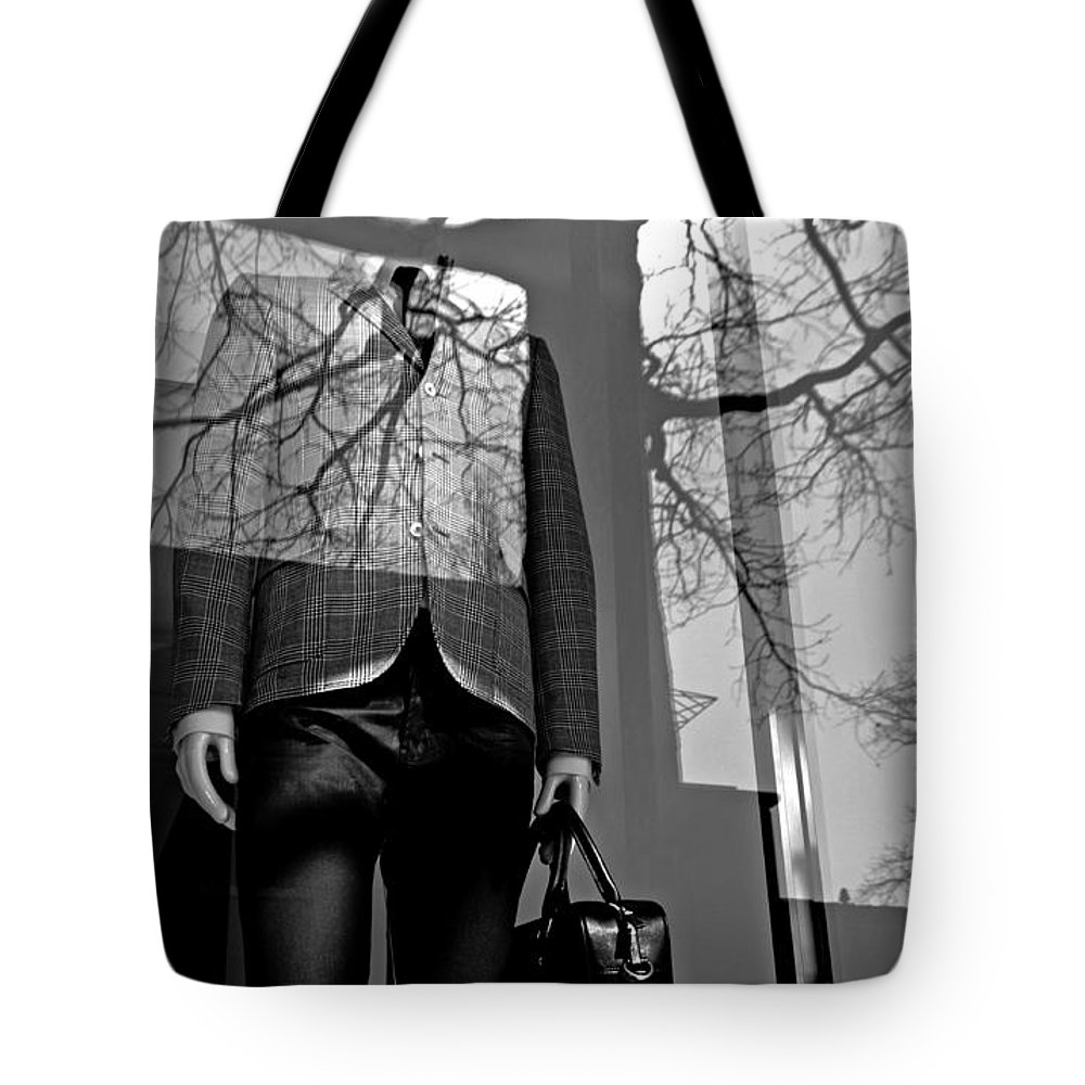 Mannequin Tote Bag featuring the photograph The Office by Diana Angstadt