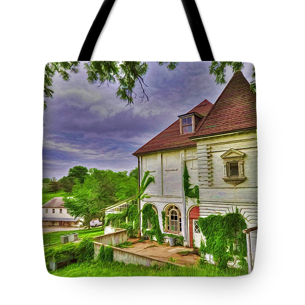 The Old Dugout Tote Bag featuring the photograph The Old Dugout - Leavenworth Va by Liane Wright
