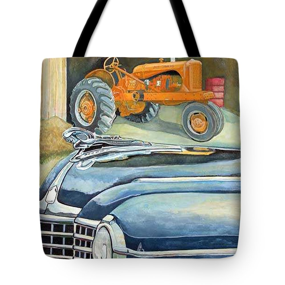 Rick Huotari Tote Bag featuring the painting The Old Farm by Rick Huotari