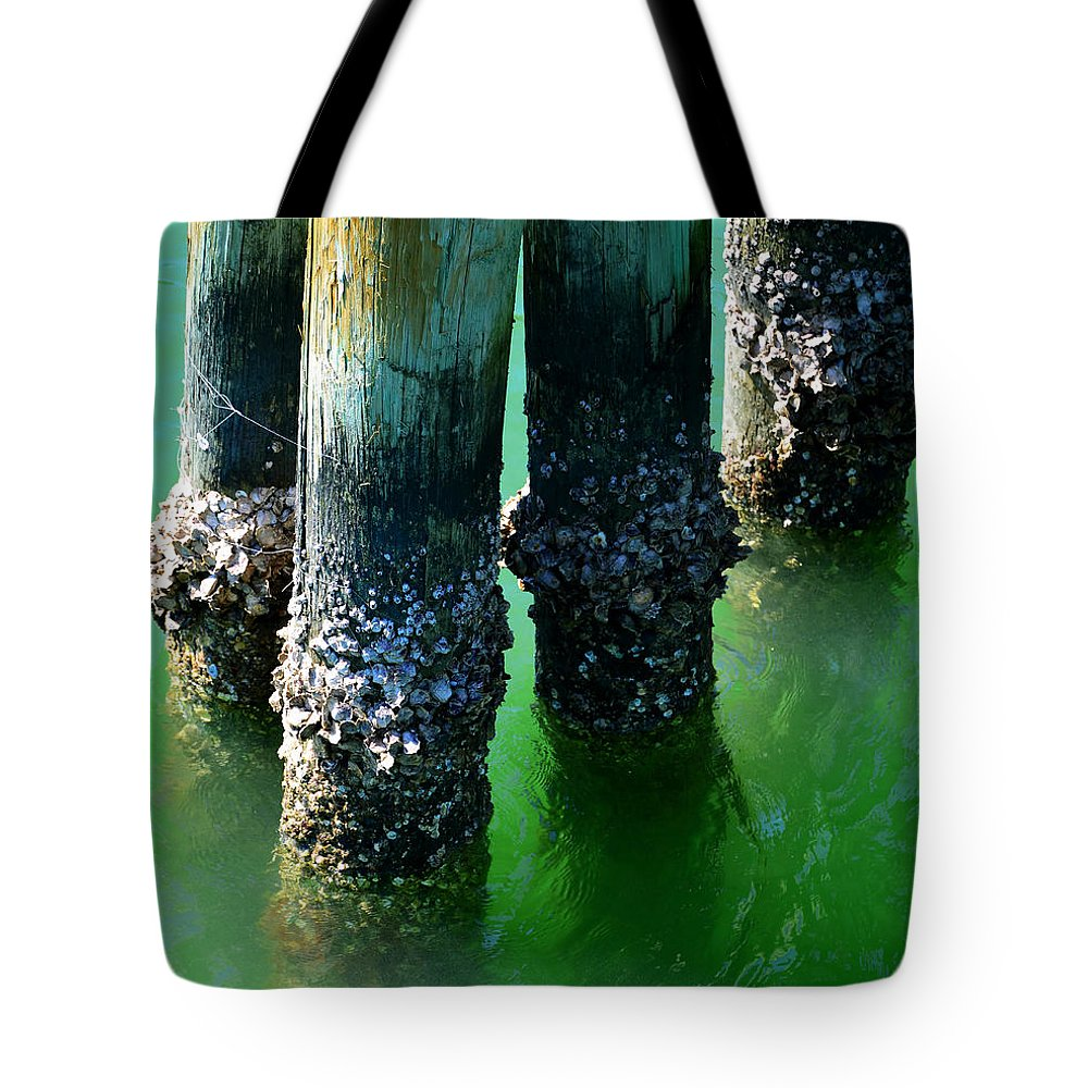 Fishing Pier Tote Bag featuring the photograph The Old Fishing Pier by David Lee Thompson