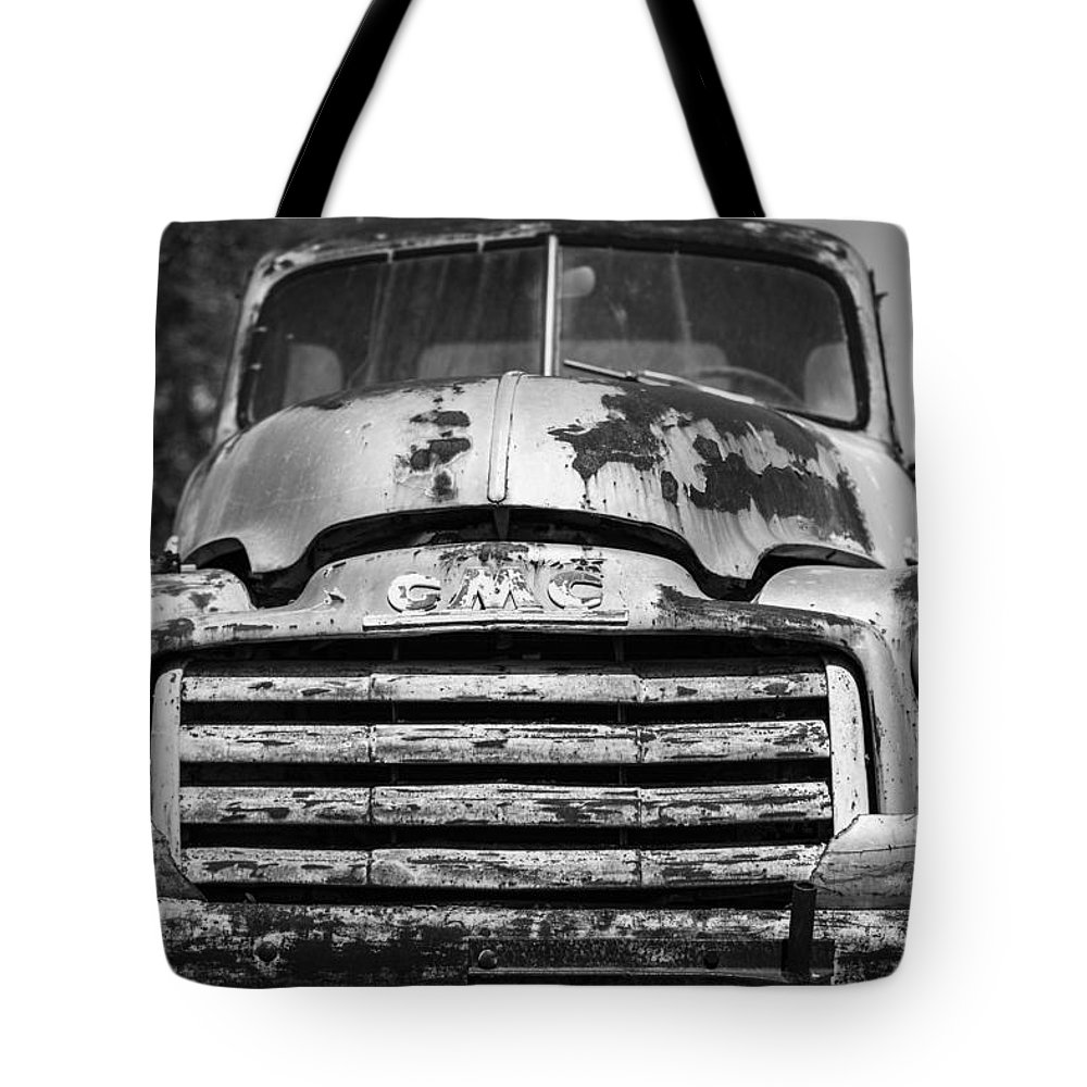 Landscapes Tote Bag featuring the photograph The Old Gmc Truck by Amber Kresge