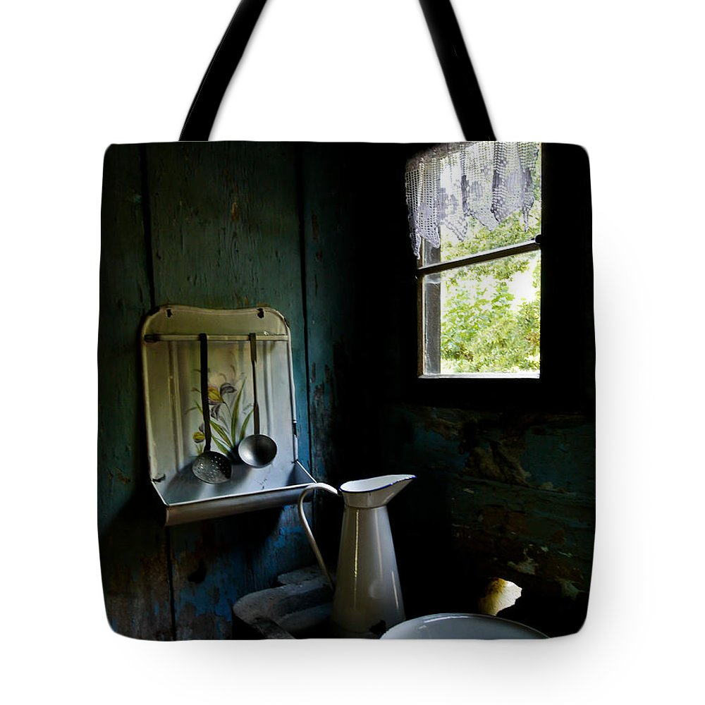 Kitchen Tote Bag featuring the photograph The Old Kitchen by Brothers Beerens