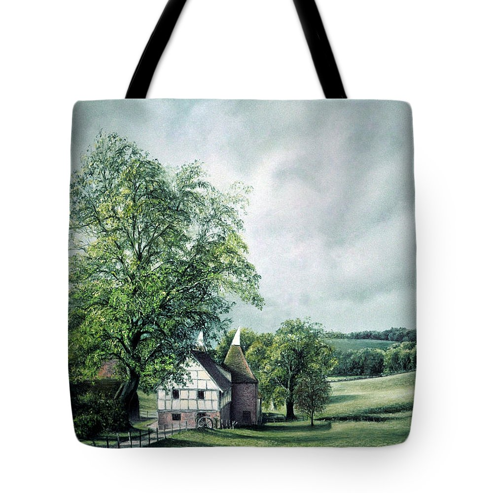 Landscape Tote Bag featuring the painting The Old Lime Tree by Rosemary Colyer