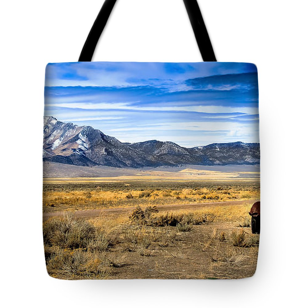 Old Truck Tote Bag featuring the photograph The Old One by Robert Bales