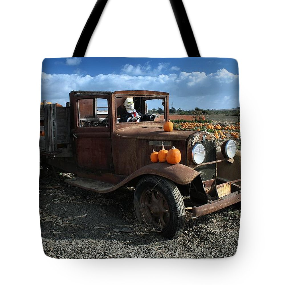 Antique Tote Bag featuring the photograph The Old Pumpkin Patch by Michael Gordon