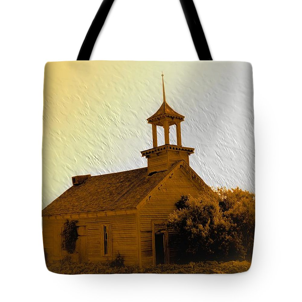 Country School Tote Bag featuring the photograph The Old School by Bonfire Photography