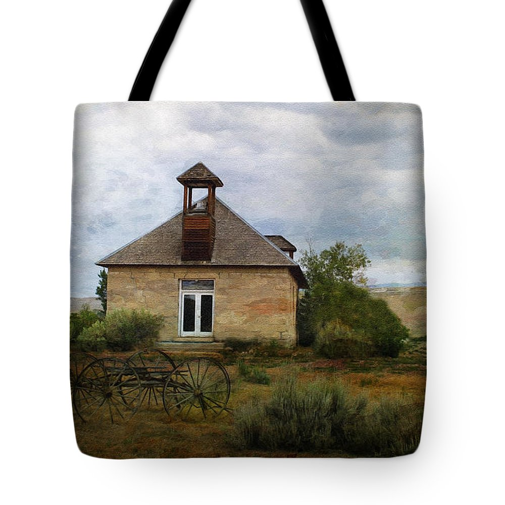 Education Tote Bag featuring the photograph The Old Shell Schoolhouse by Janice Pariza